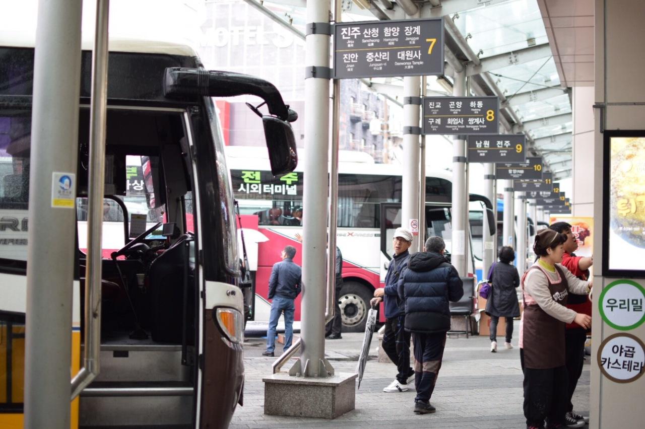 Chasing Cherry Blossom 2017: Cara nak beli tiket bas ke Jeonju/Jinhae dari Busan